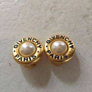 Vintage Givenchy Paris Clip On Earrings